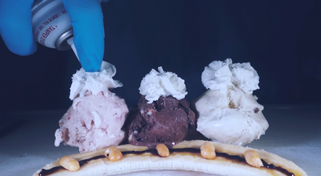 A Food Surgeon Creates a Gorgeous Banana Split With Hot Fudge