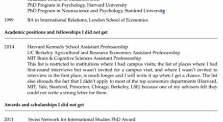 This CV of Failure by a Princeton Professor Went Viral