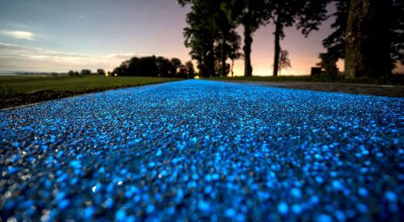 There Is A Glow-In-The-Dark Bicycle Track In Poland